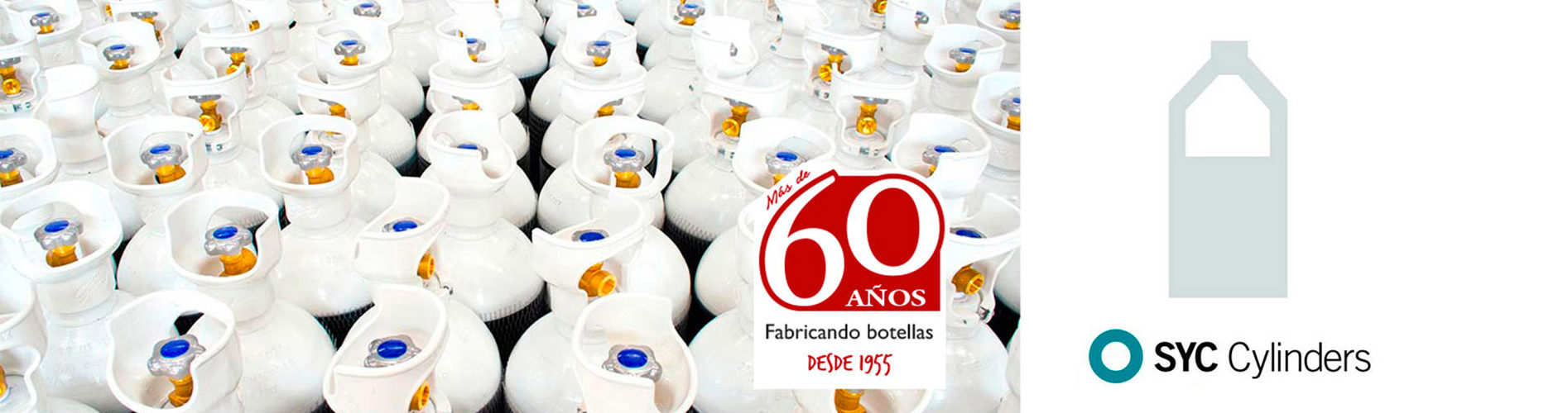 banner bouteilles industrielles syc cylinders 60 ans