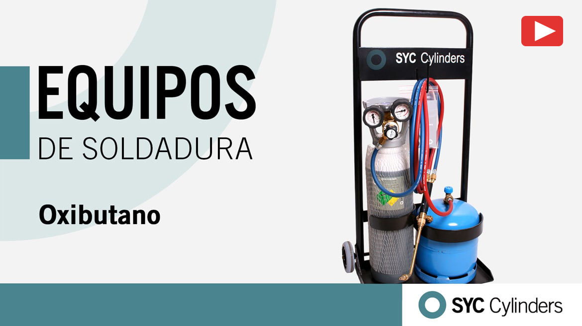 video-equipo-oxigeno-butano botellas de gas a presion