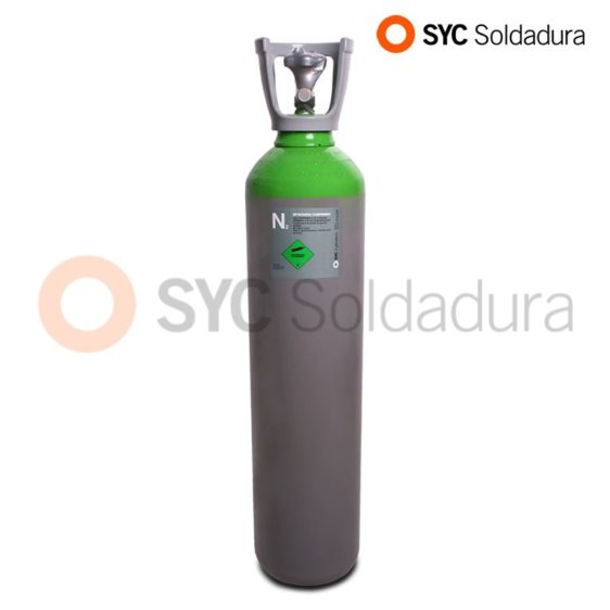 14 L 178 Nitrogen industrial cylinder high pressure green grey