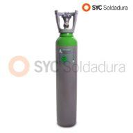 7L 140 botella industrial alta presión Argon verde gris