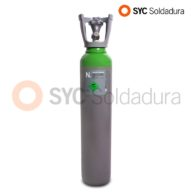 7 L 140 Nitrogen industrial cylinder high pressure green grey