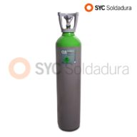 14L 178 C15 Argon and carbon dioxide industrial cylinder green grey