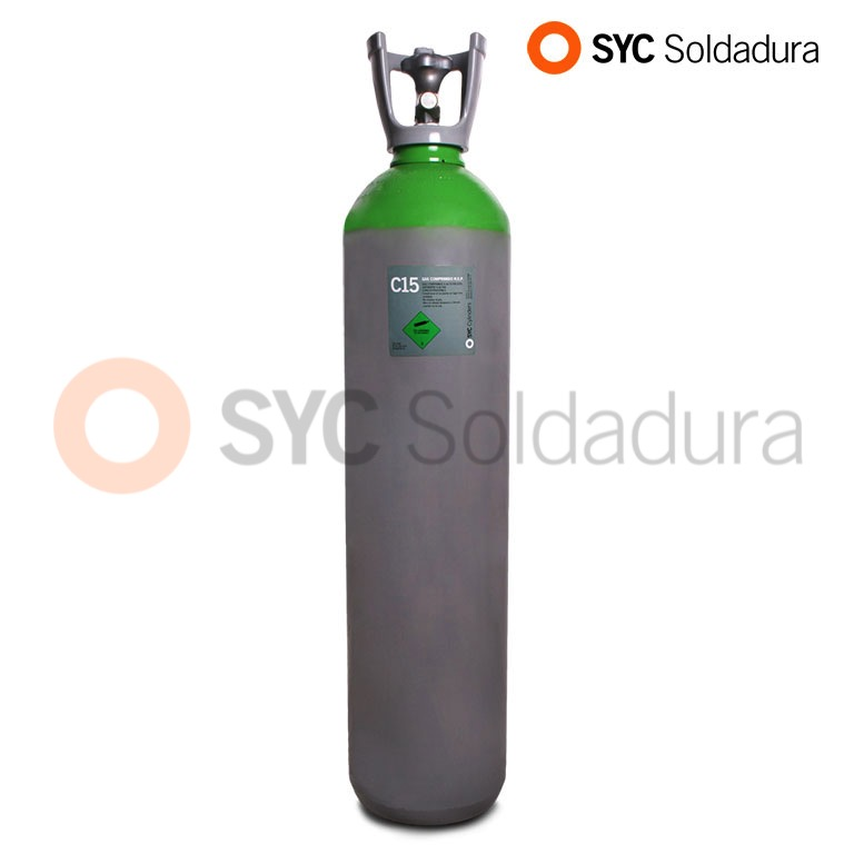 20L 200 botella industrial C15 CO2 dioxido de carbono argon verde gris