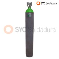 50L 230 botella industrial C15 CO2 dioxido de carbono argon verde gris