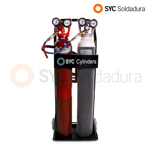 equipo de soldadura oxiacetileno grande