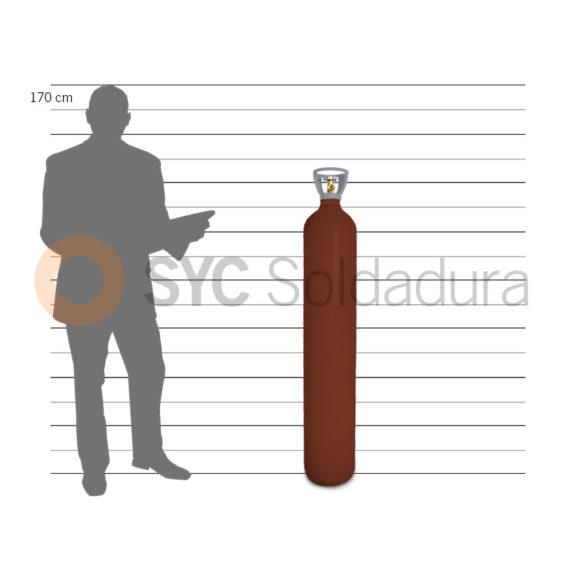 40L 230 sin gas std acetileno c2h2 rojo mida humana