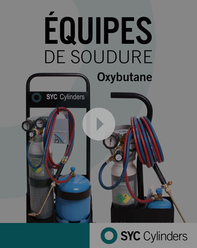 video-equipo-oxigeno-butano botellas de gas a presion