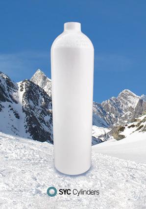 Cilindro de aluminio medicinais produto novo