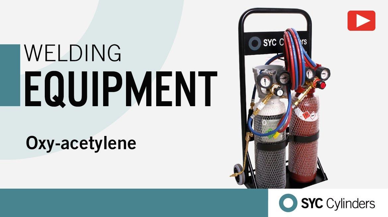 video equipment oxygen acetylene pressure gas cylinders