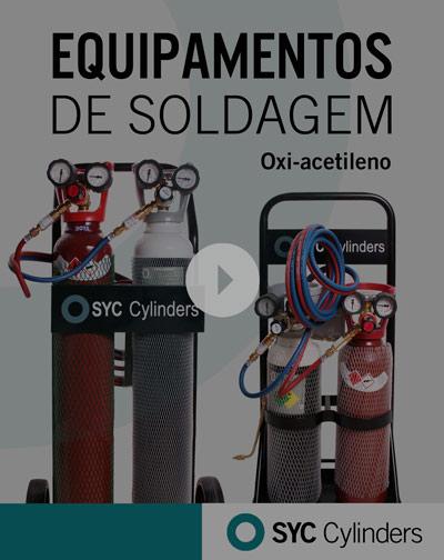 vídeo equipamento oxigênio acetileno cilindros de gás sob pressão para celular