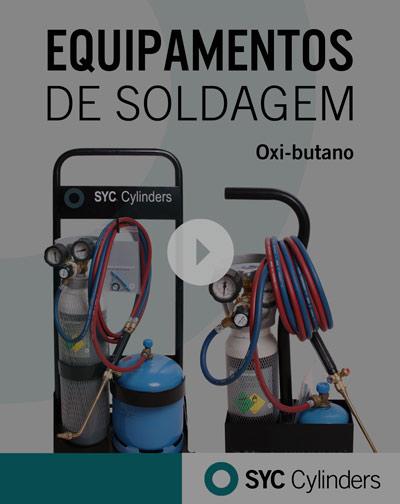 vídeo equipamento oxigênio butano cilindros de gás sob pressão para celular