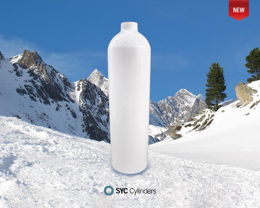 Aluminium medical cylinder new product